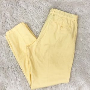 J. Crew Factory yellow khaki pants